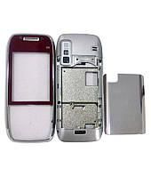 Корпус для Nokia E75 серый с красным, High Copy
