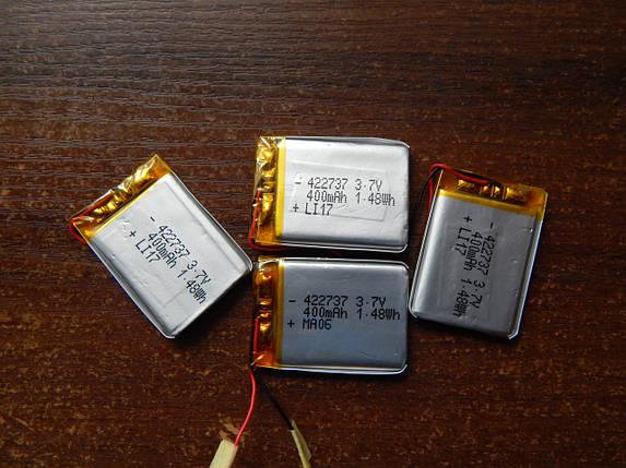 Аккумулятор, батарея 400 mAh, 3,7 V 37*26, фото 2