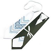 Детский галстук с вышивкой №593