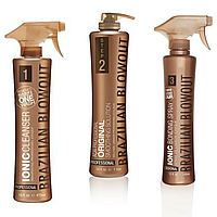 Набор для выпрямления волос Brazilian Blowout (Ionic Cleanser+Original Solution+Bonding Spray), 20/100/20 мл