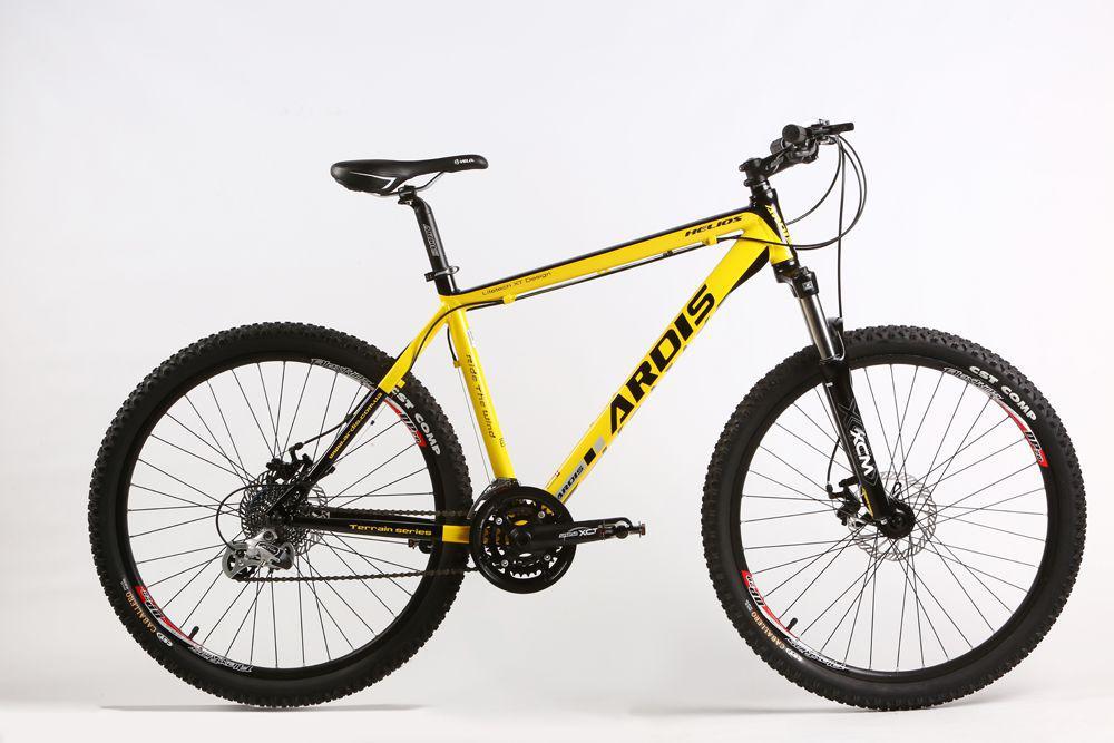 """Горный велосипед ARDIS HELIOS MTB 26"""" 17""""  Желтый/Черный"""