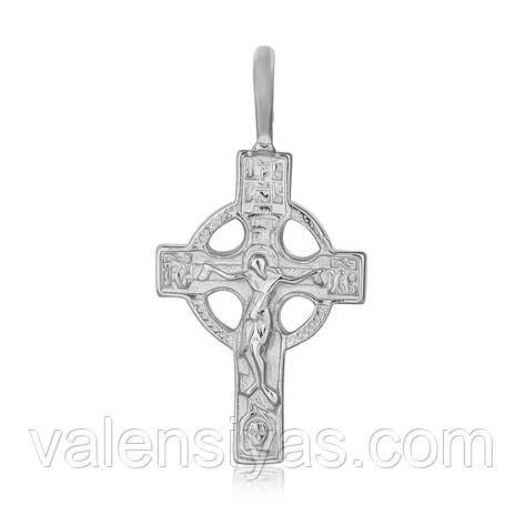 Серебряный крестик П2/028, фото 2