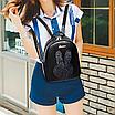 Рюкзак женский блестками Rabbit Черный, фото 4