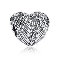 """Шарм Pandora Style (стиль Пандора) """"Крылья Ангела в виде сердца"""""""