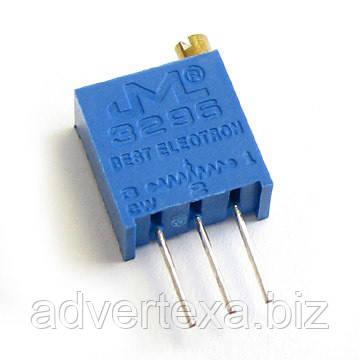 Резистор подстроечный 3296 1 М металлокерамика 25 оборотов выводные 0.5 Вт