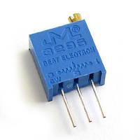 Резистор подстроечный 3296 1 М металлокерамика 25 оборотов выводные 0.5 Вт, фото 1