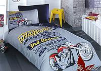 Полуторное постельное белье для подростка Motor Spirit