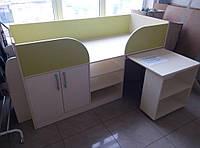 """Детская/подростковая кровать трансформер (стол, шкаф, полки) """"Эльф"""""""