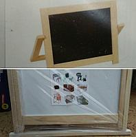 Мольберт деревянный малый,одна сторона черная для мелков,вторая белая  RMT-KYM9221 (размер:45*42см)