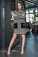 Платье Ева серый , фото 1