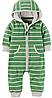 Флисовый зеленый комбинезон Carter's для мальчика 6мес, 9мес, 12мес, 18мес, 24мес