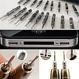 Набор отверток 25 в 1 для ремонта мобильного телефона планшета очков часов, фото 6