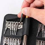 Набор отверток 25 в 1 для ремонта мобильного телефона планшета очков часов, фото 8