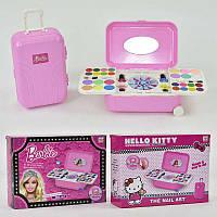 Набор Косметики  для девочки 2 вида- Hello Kitty, Barbie в чемодане на колесиках