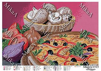 """Схема для полной зашивки бисером - """"Пицца"""""""