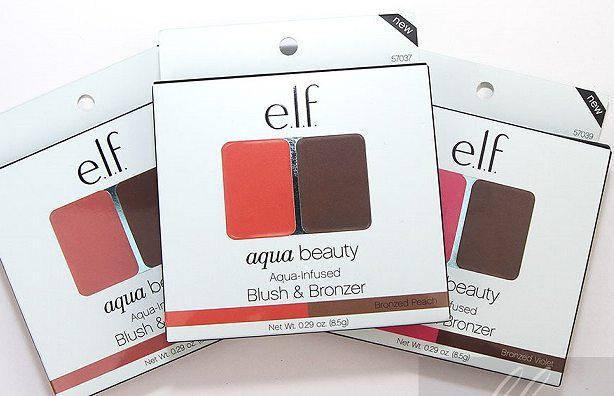 Бронзер и румяна e.l.f. Aqua Beauty Blush & Bronzer - Bronzed Peach, фото 2