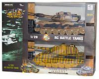 Танковый бой T90 vs King Tiger на радиоуправлении маштаб 1:28