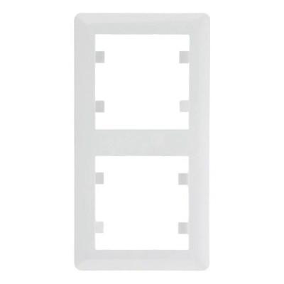 Рамка 2 пост. вертикальная Hager Lumina soul Белый
