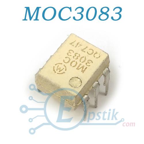 MOC3083, Оптопара з симисторннім виходом 800В, DIP-6