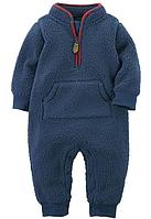 Комбинезон Carter's шерпа синий для мальчика  12мес