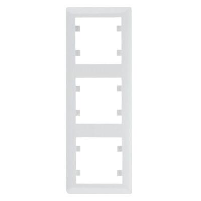 Рамка 3 пост. вертикальна Hager Lumina soul Білий