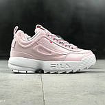 "Женские кроссовки Fila Disruptor II ""pink"". Живое фото (Реплика ААА+), фото 6"