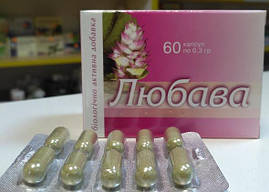При заболевании гинекологии, болезненных менструациях Любава 60 капсул