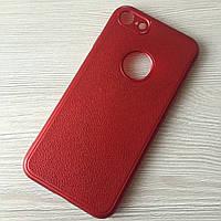 Бардовый матовый силиконовый чехол iphone 7/8 в упаковке