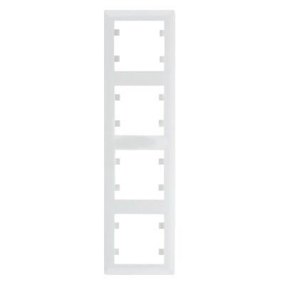 Рамка 4 пост. вертикальная Hager Lumina soul Белый