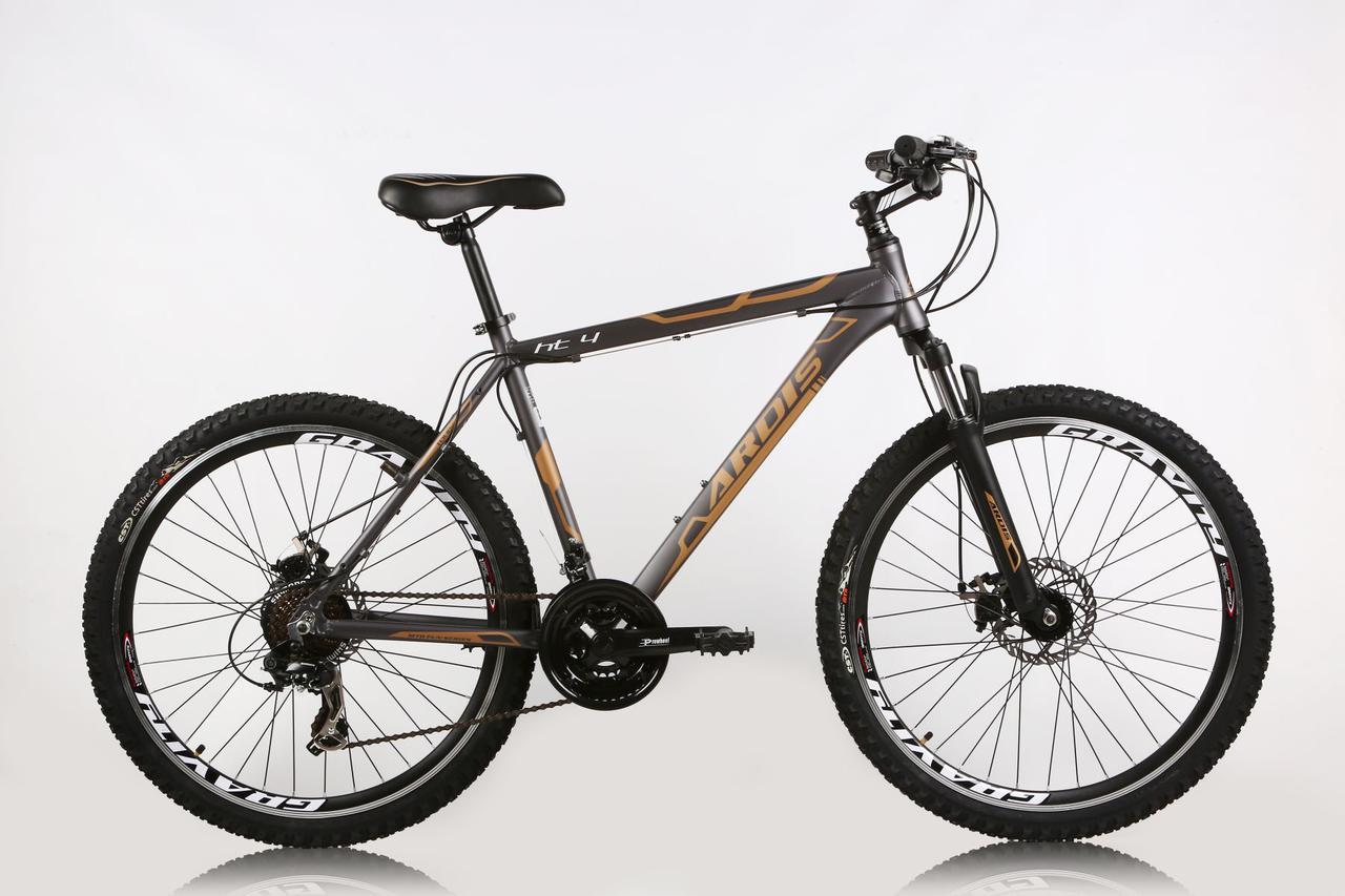 """Гірський велосипед ARDIS HT4 26"""" 17"""", 19"""" 21"""" Сірий/Помаранчевий"""
