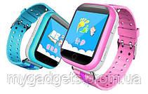 Детские GPS часы Smart Baby Watch Q100S с цветным сенсорным экраном, фото 3
