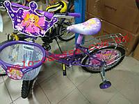 Детский двухколесный велосипед с корзинкой Азимут Принцесса NEW 20 дюймов