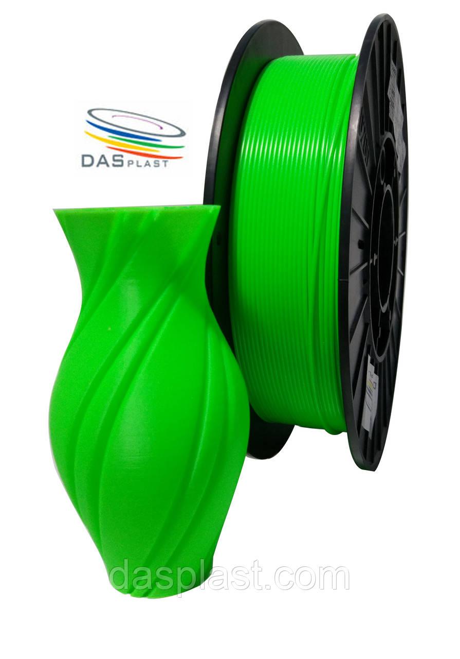 АБС нить 0,5 кг зеленый неоновый, 1.75 мм пластик для 3d печати