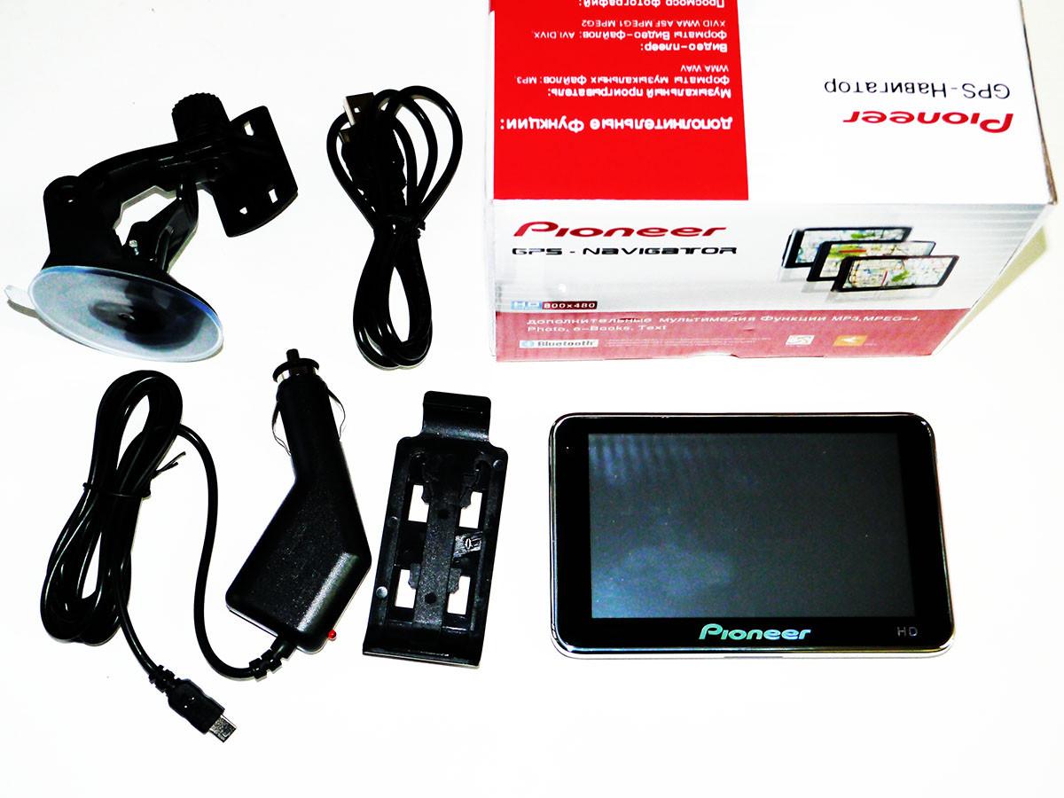 "GPS навигатор 5"" Pioneer 4Gb + FM трансмиттер"