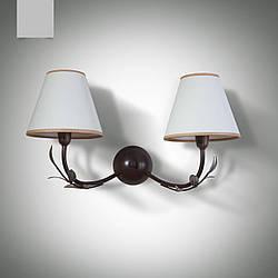 Настенный светильник, бра 2-х ламповое флористика с абажурами  11602-3