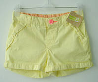 Шорты для девочки 6-12, 12-18, 18-24 мес, 2, 3, 4 года желтые Crazy8 (шорти для дівчинки котон)