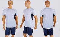 Футбольная форма Sole  (PL, р-р M-XXL, белый-серый, шорты серые), фото 1