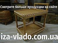 Стол мини-бар (сервировочный) на колесах из лозы (Иза)