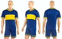 Футбольная форма Two colors  (PL, р-р M-XXL, синий, шорты синие), фото 1