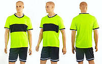 Футбольная форма Two colors  (PL, р-р M-XXL, салатовый, шорты черные), фото 1