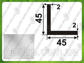 45*45*2. Уголок алюминиевый равносторонний. Без покрытия.