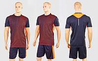 Футбольная форма Variation  (PL, р-р M-XXL, черный-красный, шорты черные), фото 1