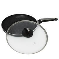 Сковорода Kamille 28см с мраморным покрытием и крышкой
