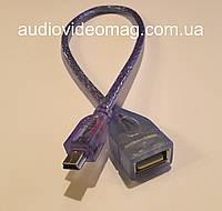 Кабель-переходник OTG USB - mini USB, длина 0.3 м