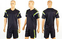 Футбольная форма Vector  (PL, р-р M-XL, черный, шорты черные), фото 1