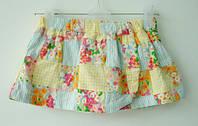 Юбка на запах Crazy8 для девочки 3-6, 12-18 месяцев (юбка дитяча котон)