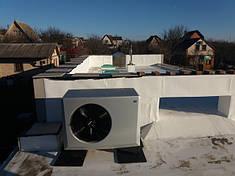 Крышная установка теплового насоса, Киев