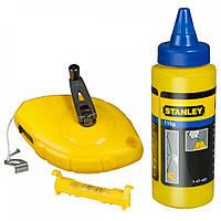 Уровень Stanley разметочный шнур в корпусее OPP, мел. порошок (0-47-443)