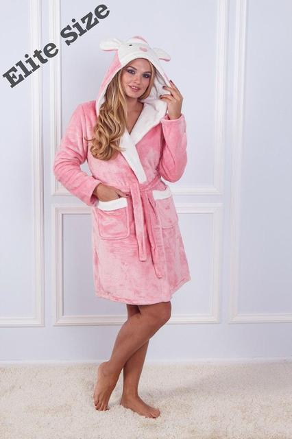 Женский теплый бамбуковый халат с капюшоном d-720017