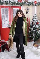 Длинная зимняя куртка-пальто (большие размеры)
